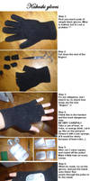 Hatake Kakashi gloves tutorial by kakashifanchiyo