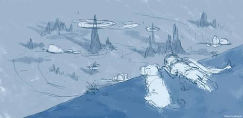 On The Edge of The World - work in progress by grrroch