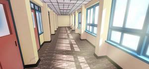 - School Corridor - by Pluvias