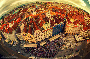 Prague From Above by oO-Rein-Oo