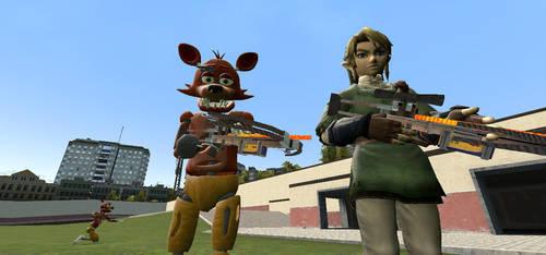 Link And Foxy by raetara