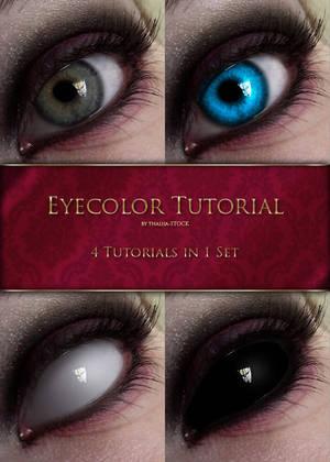 Eyecolor Tutorial - 4in1 by thalija-STOCK