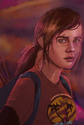 The Last of Us //  Ellie // Pink Lights by vyrenia