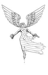 American Terrorist digital edition #7 Cover: Inks by TylerChinTanner