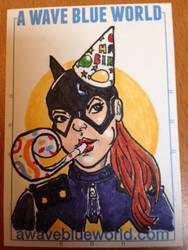 Batgirl Birthday Sketch Card by TylerChinTanner