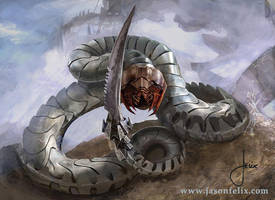 Metal Serpent -Magic The Gathering by jason-felix