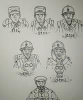 WW1 Evolution d'un poilu \ Evolution of a Poilu by Gozac1198