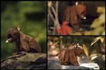 Origami Bear Cub by FoldedWilderness
