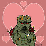 Swamp Thing Loves His Girl by chelano