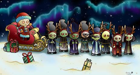Santamoidian's Little Helpers by Kweh-chan