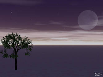 Purple Sky...Plus a Tree by invadertim3
