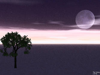 Purple Sky...Plus a Tree 2 by invadertim3