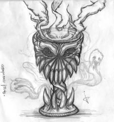 Sketch Grial come almas nueva version by Jinshi0k