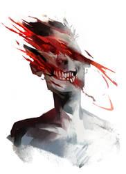 Striped face by znodden