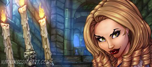 Tanya Countess Dracula - COLOR sneak peek by nathanscomicart