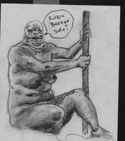 Jabba life drawing by mikefasano
