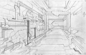 alien hallway by mikefasano