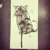 Evil Cat by mikefasano