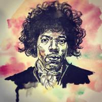 Hendrix by mikefasano