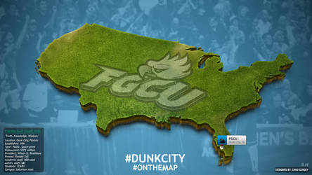 FGCU On The Map Wallpaper by Chadski51
