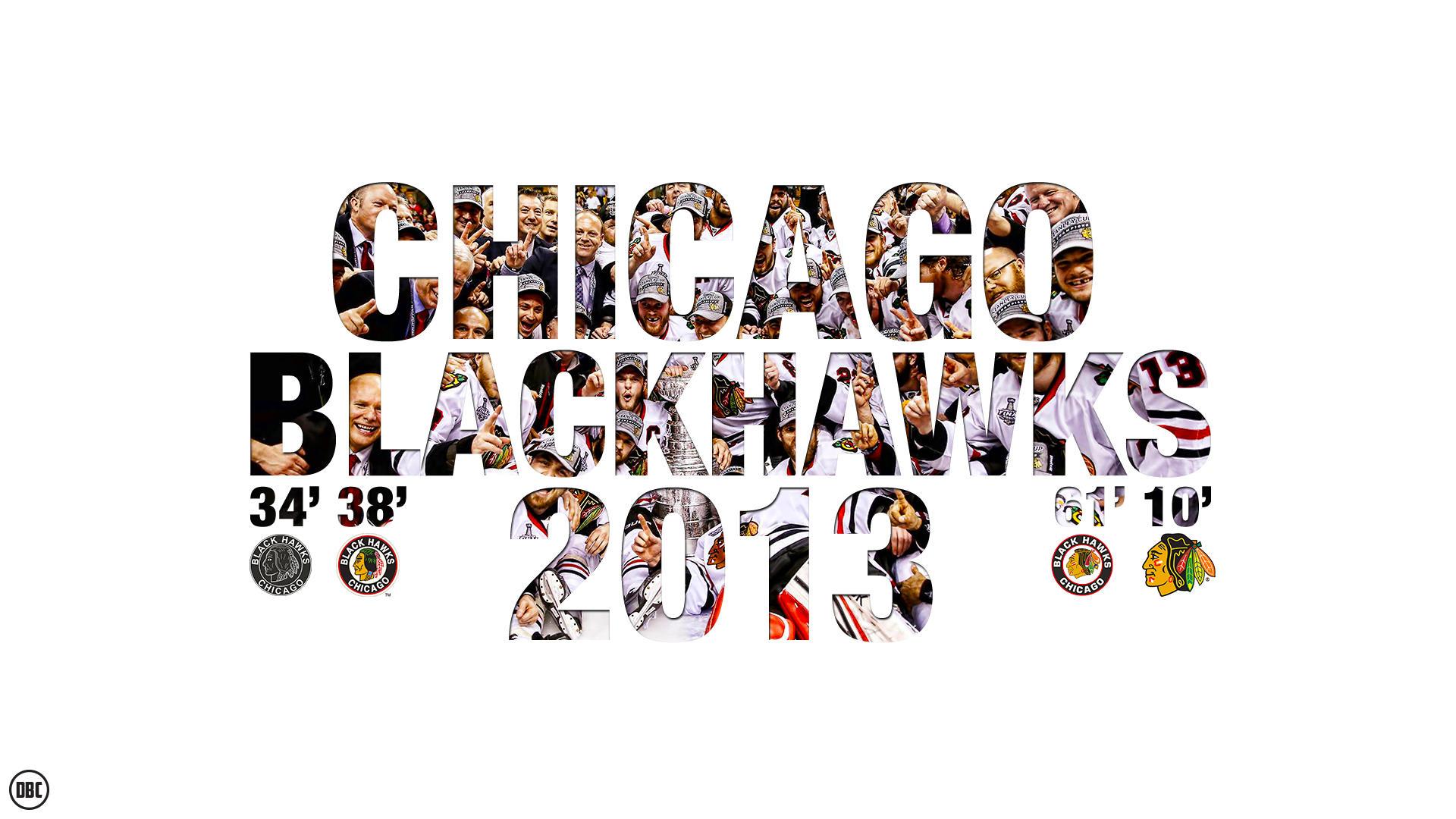 Chicago Black Hawks 2013 Champions Wallpaper by Chadski51