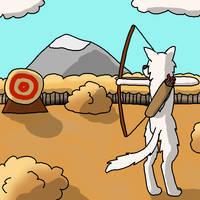 Archery Pratice (Muirne Ni Prompt #4) by Pkmn-Freak