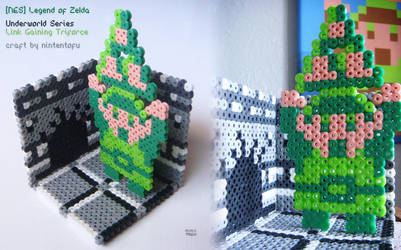 [NES] Legend of Zelda - Link w/ Triforce | craft by nintentofu