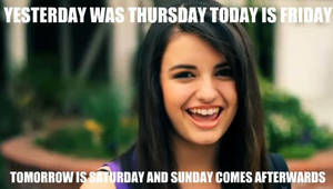 Rebecca Black Friday by X-TENLovesAnime