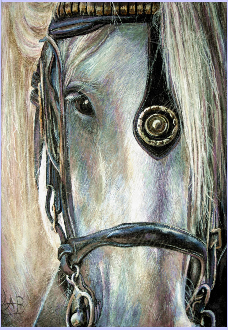Smokey Joe - acrylic by Lynne-Abley-Burton