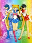 S.H. Figuarts Sailor Moon, Mars, Mercury by MoonCollectar