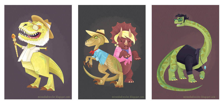 Jurassic Park Gang by mirandajane