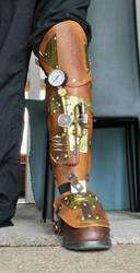 Steampunk Leg Brace by Illy251