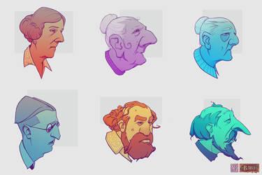 ODDfigures' Babu - Character sketches by Steenhuisen