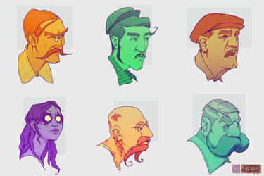 ODDfigures' Babu - Character sketches 2 by Steenhuisen