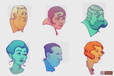 ODDfigures' Babu - Character sketches 3 by Steenhuisen