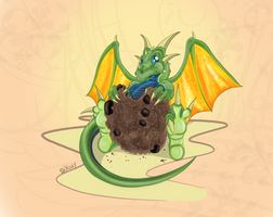 Dragon Cookie for Thanks by HospitallerInaBoat
