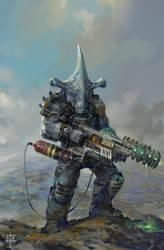 Alien Shark Raider by KJKallio