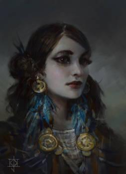 Portrait of a girl by KJKallio