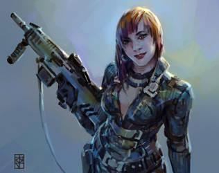 Scifi gal by KJKallio