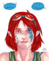 Lilith Lieks Smiling by Th0rni