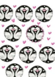 Love Swans patten by LubelleCreativeSpark