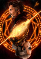 Dr Strange and Kaecilius by MarcosxSantos
