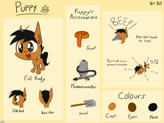 Puppy Reference Sheet by ProfessionalPuppy