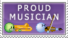 Proud Musician -Stamp by musicalsusical