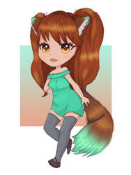 Wolf Girl OC - Mizuki Wolf - Drawing Your OCs by paulablox