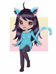 Drawing Your OCs - Blue Cat Girl by paulablox