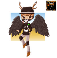 Drawing Your OCs - Roblox Character with Wings by paulablox