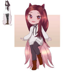 Drawing Your OCs - Wolf Girl - Anime Chibi by paulablox