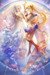 SAILOR MOON and Princess Serenity by MoonlightYUE