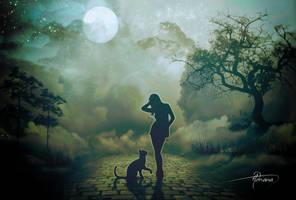 Full Moon Night by Adriana-Madrid